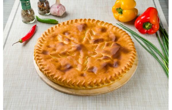 Осетинский пирог с курицей и ананасом